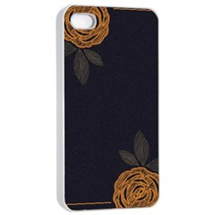 Floral Roses Seamless Pattern Vector Background Apple Iphone 4/4s Seamless Case (white)