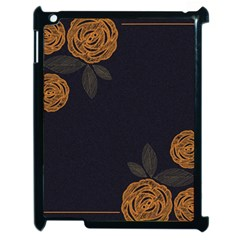 Floral Roses Seamless Pattern Vector Background Apple iPad 2 Case (Black)