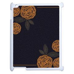 Floral Roses Seamless Pattern Vector Background Apple iPad 2 Case (White)