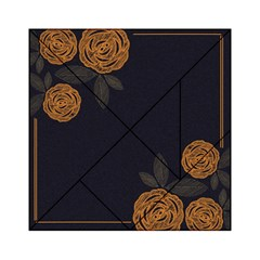 Floral Roses Seamless Pattern Vector Background Acrylic Tangram Puzzle (6  X 6 )