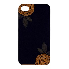 Floral Roses Seamless Pattern Vector Background Apple Iphone 4/4s Premium Hardshell Case