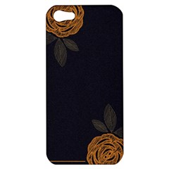 Floral Roses Seamless Pattern Vector Background Apple Iphone 5 Hardshell Case