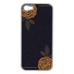 Floral Roses Seamless Pattern Vector Background Apple Iphone 5 Case (silver)