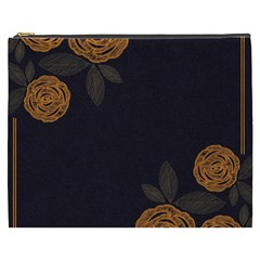 Floral Roses Seamless Pattern Vector Background Cosmetic Bag (xxxl)