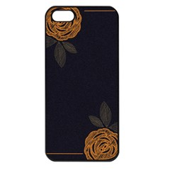 Floral Roses Seamless Pattern Vector Background Apple iPhone 5 Seamless Case (Black)