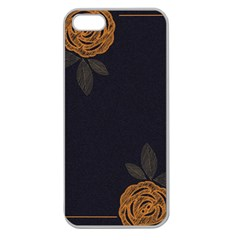 Floral Roses Seamless Pattern Vector Background Apple Seamless Iphone 5 Case (clear)