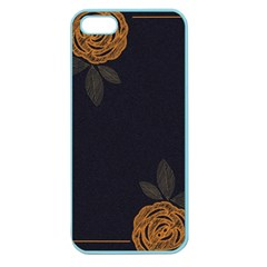 Floral Roses Seamless Pattern Vector Background Apple Seamless iPhone 5 Case (Color)