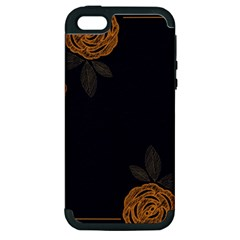 Floral Roses Seamless Pattern Vector Background Apple Iphone 5 Hardshell Case (pc+silicone)