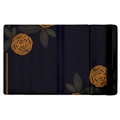 Floral Roses Seamless Pattern Vector Background Apple iPad 2 Flip Case