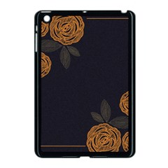 Floral Roses Seamless Pattern Vector Background Apple Ipad Mini Case (black)