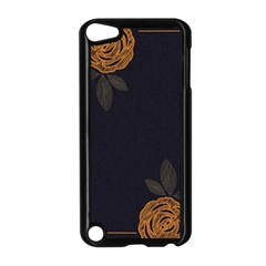 Floral Roses Seamless Pattern Vector Background Apple iPod Touch 5 Case (Black)