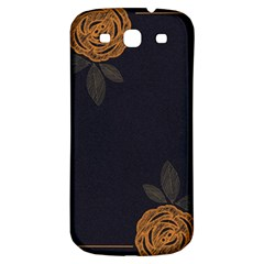 Floral Roses Seamless Pattern Vector Background Samsung Galaxy S3 S III Classic Hardshell Back Case
