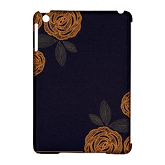 Floral Roses Seamless Pattern Vector Background Apple Ipad Mini Hardshell Case (compatible With Smart Cover)