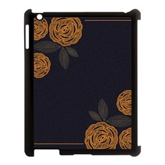 Floral Roses Seamless Pattern Vector Background Apple iPad 3/4 Case (Black)
