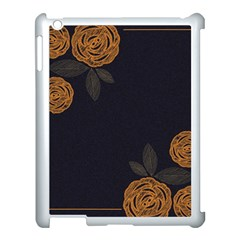 Floral Roses Seamless Pattern Vector Background Apple iPad 3/4 Case (White)
