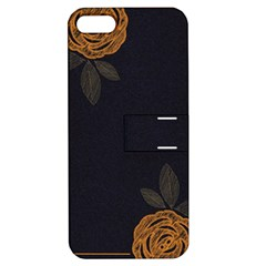 Floral Roses Seamless Pattern Vector Background Apple Iphone 5 Hardshell Case With Stand