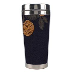 Floral Roses Seamless Pattern Vector Background Stainless Steel Travel Tumblers