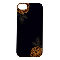 Floral Roses Seamless Pattern Vector Background Apple iPhone 5S/ SE Hardshell Case