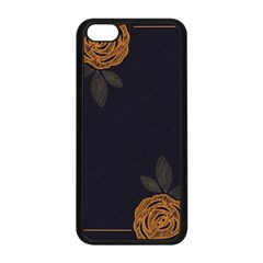 Floral Roses Seamless Pattern Vector Background Apple Iphone 5c Seamless Case (black)