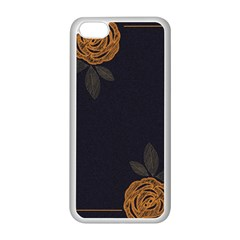Floral Roses Seamless Pattern Vector Background Apple iPhone 5C Seamless Case (White)