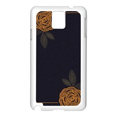 Floral Roses Seamless Pattern Vector Background Samsung Galaxy Note 3 N9005 Case (White)
