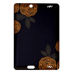 Floral Roses Seamless Pattern Vector Background Amazon Kindle Fire HD (2013) Hardshell Case