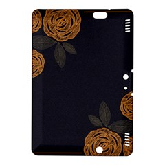 Floral Roses Seamless Pattern Vector Background Kindle Fire Hdx 8 9  Hardshell Case
