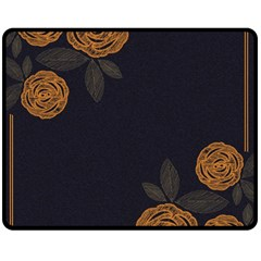 Floral Roses Seamless Pattern Vector Background Double Sided Fleece Blanket (medium)