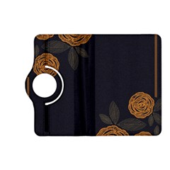 Floral Roses Seamless Pattern Vector Background Kindle Fire Hd (2013) Flip 360 Case