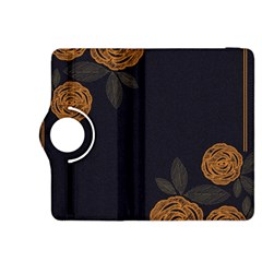 Floral Roses Seamless Pattern Vector Background Kindle Fire Hdx 8 9  Flip 360 Case