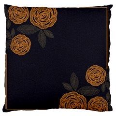 Floral Roses Seamless Pattern Vector Background Large Flano Cushion Case (One Side)