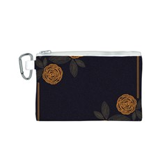 Floral Roses Seamless Pattern Vector Background Canvas Cosmetic Bag (s)