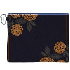 Floral Roses Seamless Pattern Vector Background Canvas Cosmetic Bag (xxxl)