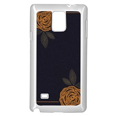 Floral Roses Seamless Pattern Vector Background Samsung Galaxy Note 4 Case (white)