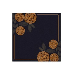 Floral Roses Seamless Pattern Vector Background Satin Bandana Scarf
