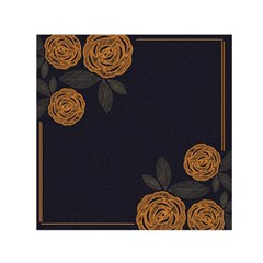 Floral Roses Seamless Pattern Vector Background Small Satin Scarf (Square)