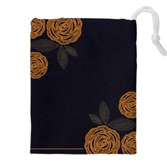 Floral Roses Seamless Pattern Vector Background Drawstring Pouches (XXL)