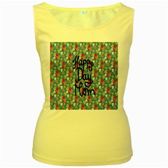 Happy Mothers Day Celebration Women s Yellow Tank Top