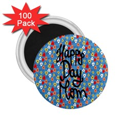 Happy Mothers Day Celebration 2 25  Magnets (100 Pack)
