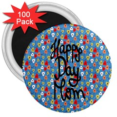 Happy Mothers Day Celebration 3  Magnets (100 pack)