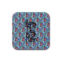 Happy Mothers Day Celebration Rubber Square Coaster (4 Pack)