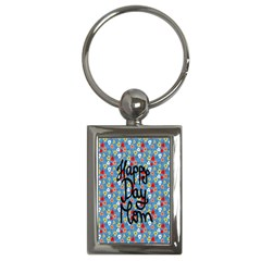 Happy Mothers Day Celebration Key Chains (Rectangle)