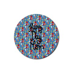 Happy Mothers Day Celebration Rubber Coaster (Round)