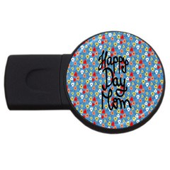 Happy Mothers Day Celebration USB Flash Drive Round (2 GB)