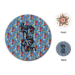 Happy Mothers Day Celebration Playing Cards (Round)