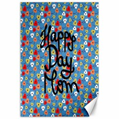 Happy Mothers Day Celebration Canvas 12  x 18