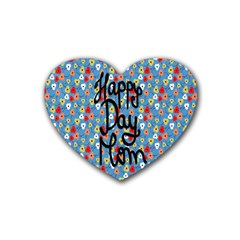 Happy Mothers Day Celebration Heart Coaster (4 pack)