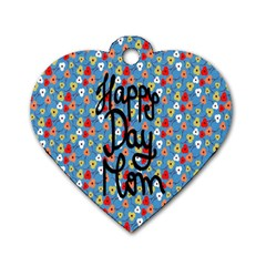 Happy Mothers Day Celebration Dog Tag Heart (two Sides)