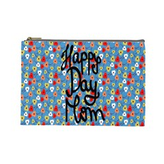 Happy Mothers Day Celebration Cosmetic Bag (large)