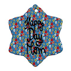 Happy Mothers Day Celebration Ornament (snowflake)